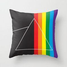 Funky Fan Art Inspired by Pink Floyd Pillow Dark Side Of The Moon