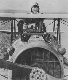 American WWI Ace Rickenbacker- US top ace Eddie Rickenbacker with 26 victories. He survived the war.