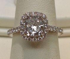 5 carat cushion cut halo diamond engagment by diamondsfromnewyork except a circle diamond