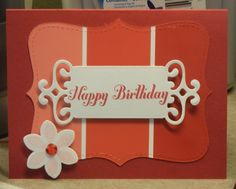 Card I made with a paint chip.  I love this stuff.
