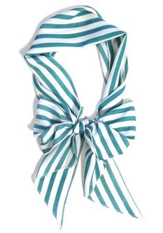 Skinny Secretary Scarf: Blue Stripes