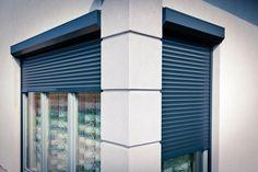 niebieskie rolety zewnętrzne do kupienia w  http://www.liradom.com.pl/rolety-zewnetrzne.html  blue anti burglary roller blinds
