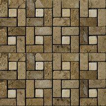 Walmart: Emser Tile Natural Stone 12'' x 12'' Travertine Pinwheel Mosaic in Mocha/Beige