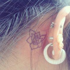 (100+) behind ear tattoo | Tumblr