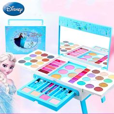 new Cartoon girls frozen Dressing Tables makeup toys Dream Princess table set House toys Water-soluble children's cosmetics Birthday Gifts For Girls, 9th Birthday, Gifts For Kids, Makeup Toys, Kids Makeup, Toys For Girls, Kids Toys, Barbie Bike, Frozen Cupcake Toppers