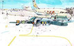 peter oumanski illustration illustrator sketch book drawing