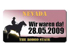 Nevada US Kennzeichen mit individuellem Wunschtext bedruckt - Hausnummern und Schilder online kaufen