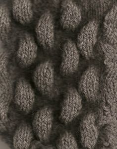 3D Textiles - dimensional knitted surface pattern & texture - knit sample; knitwear design // Pin & Intertwine
