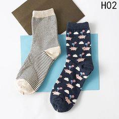 New 2 Pairs/Set! Cartoon Animal Pattern Long Cotton Socks Women Girl F – intotham Garter Belt And Stockings, Lace Garter, Thigh High Socks, Thigh Highs, Fun Dress Socks, Boot Socks, Ankle Socks, Socks For Sale, Sock Animals