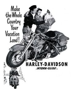 Old Harley Davidson Motorcycle Ad.