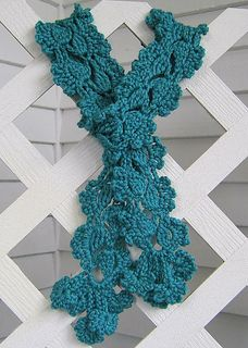 Ravelry: Flowering Clematis Scarf pattern by Sue Perez Crochet Flower Scarf, Crochet Scarves, Crochet Shawl, Crochet Clothes, Crochet Flowers, Diy Flowers, Crochet Eyes, Cute Crochet, Crochet Hooks