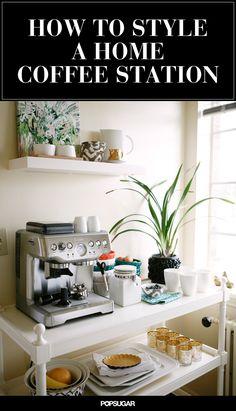 How to Create a Stylish Coffee & Tea Station