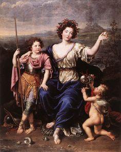 La marquesa de Seignelay y dos de sus hijos. Mignard