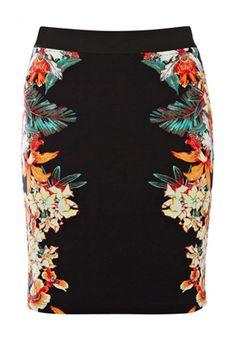 Mirror Palm Print Skirt