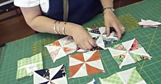 Jenny from Missouri Star Quilt Company shows us how to make fast and easy pinwheels in this tutorial.