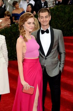 Pin for Later: Hollywood's Hottest Couples Ignite the Met Gala Red Carpet Emma Stone and Andrew Garfield