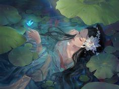 Chinese Drawings, Chinese Art, Art Drawings, Chinese Painting, Art And Illustration, Botanical Illustration, Anime Art Girl, Manga Art, Arte Inspo