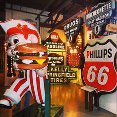 Surround yourself with Americana at the American Sign Museum in Cincinnati. See more fun photos on our Instagram feed: http://www.instagram.com/midwestlivingmag
