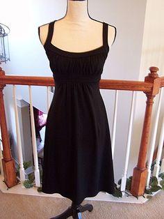 Susana Monaco XS Dress Black Sleeveless Empire Waist NWOT #SusanaMonaco #AnyOccasion