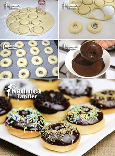 Baked Donut Recipe, How To – Womanly Recipes - Kuchen Rezepte Baked Donut Recipes, Baked Donuts, Cake Recipes, Food Cakes, Coconut Macaroons, Macarons, Dessert Sans Four, Recipe Mix, Turkish Recipes