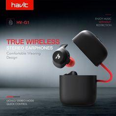 Cheap HAVIT TWS Bluetooth Earphone True Wireless Sport Earphone Waterproof Stereo Earbuds With Microphone for Handsfree Calls Waterproof Headphones, Bluetooth Headphones, Cheap Earbuds, Headset, Free Shipping, Tech, Consumer Electronics, Garden Gadgets, Diy Box
