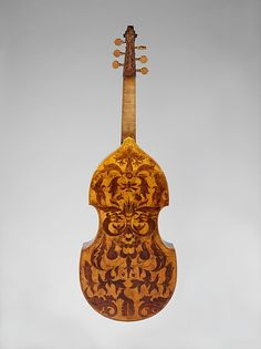 John Rose | Bass Viola da Gamba | London, ca. 1600. Absolutely amazing decoration on the back of this extremely early viol.