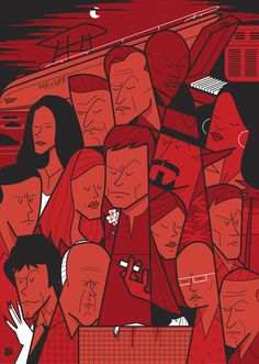 Dexter Movie themed illustrations by Ale Giorgini