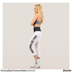 Shop Personalized Custom Made Capri Leggings created by Ricaso. Personalized Products, Customized Gifts, Text Color, Capri Leggings, Design Your Own, Colorful Backgrounds, Custom Made, Create Your Own, Shop Now