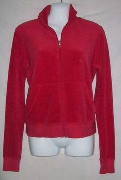 Juicy Couture Large Jacket NEW Womens Large Track Jacket Zippered Sweat Top NICE$24.99
