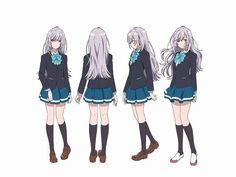Hitomi Tsukishiro (VA: Kaori Ishihara) from anime So Many Colors in the Future What a Wonderful World (Irozuku Sekai no Ashita Kara) Girls Characters, Anime Characters, Female Characters, Female Character Design, Character Art, Anime Manga, Anime Art, School Uniform Anime, Satsuriku No Tenshi