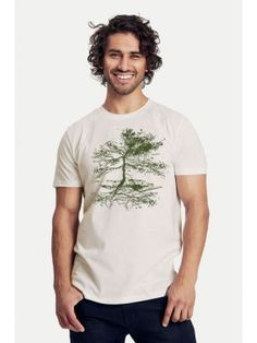 Bio-Herren-T-Shirt Rooted Neutral, Herren T Shirt, Mens Tops, Products, Fashion, Atelier, Vegan Fashion, Silk Screen Printing, Moda