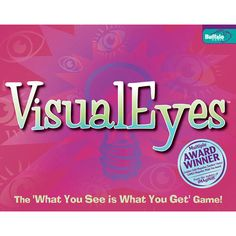 VisualEyes Board Game: VisualEyes: The What You See is What You Get Game! It only takes seconds to learn!? Shake 19 dice to display thousands of combinations of simple icons. Now quickly take down all the words and phrases you can spot before your opponents. Creativity definitely counts!  $24.99  http://www.calendars.com/Family-Games/VisualEyes-Board-Game/prod200400006953/?categoryId=cat660012=cat660012#