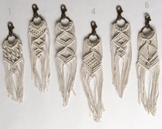 Macrame Keychain by Thirty4Knots on Etsy