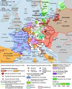 Fin de la guerre de Trente Ans (Paix des Pyrénées)- Condé se réfugie à Bruxelles chez l'archiduc Leopold-Guillaume et devint l'âme de la politique espagnole. Il est comme un souverain en exil, avec faste et éclat, multipliant les scandales et les provocations mais manquant cruellement de ressources. Il tente vainement de reprendre Arras (1656) et ne peut empêcher la défaite de Don Juan à la bataille de Dunes (1659).