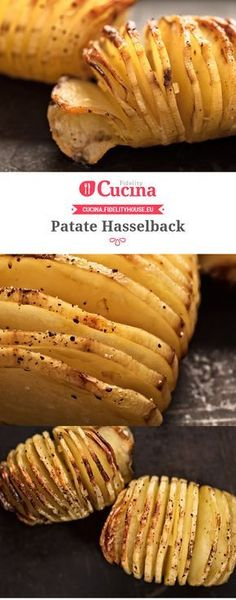 #Patate Hasselback Easy Cooking, Healthy Cooking, Cooking Recipes, Veg Dishes, Kitchen Recipes, Food Design, My Favorite Food, Soul Food, Vegetable Recipes