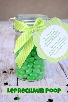 DIY: Leprechaun Poop-A Fun Idea for St. Patrick's Day With Free Printable...really cute!