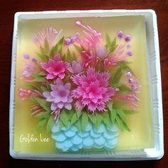 Giỏ hoa xinh. Mẫu thứ 3