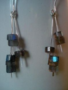Wire jewelry | beads and wire earrings | wire work