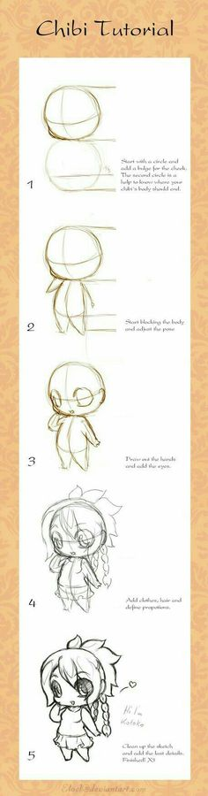 Chibi Tutorial, text; How to Draw Manga/Anime
