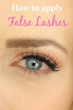 Step your beauty routine up this Holiday season and learn how to apply false lashes.
