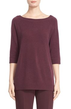 Max Mara 'Re' Three Quarter Sleeve Cashmere Sweater