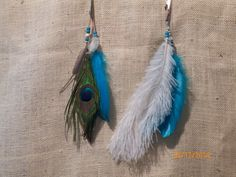 Several types of feathers are made in attractive combinations and colors.  Ostrich feathers are popular with long hair.  They are silky and elegant looking.