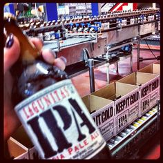 Free Tours at Lagunitas Brewing Company - Yes, you get an #IPA beer off the bottling line