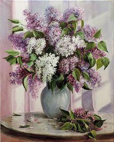 pintura - ainda, vida, comprar uma pintura Lilac Tempo