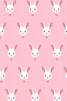 Pastel Pink Cute Bunny Rabbit By Kathrynrose
