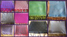 25pc Art Wholesale Lot Indian Designer Silk Scarf Wraps Shawls Scarves / Stoles  #Handmade #Shawl