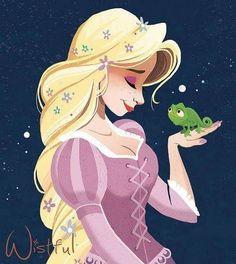 Rapunzel by Wistful Art Film Disney, Disney Nerd, Arte Disney, Disney Fan Art, Disney Magic, Disney Disney, Rapunzel Flynn, Rapunzel And Eugene, Disney Rapunzel
