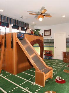 Boys Sports Room football player rack hanger boys sports room decor wall 4 hook