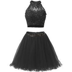 Pico's Beaded Two Pieces Homecoming Dresses Applique Women's Short... ($20) ❤ liked on Polyvore featuring dresses, gowns, two piece gown, 2 piece homecoming dresses, prom dresses, beaded gown and 2 piece prom dresses