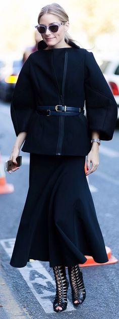 Best Outfit Ideas For Fall And Winter Black Tulip Maxi Skirt